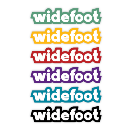 Widefoot Logotype Stickers Group