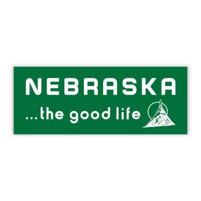 Nebraska the good life sticker