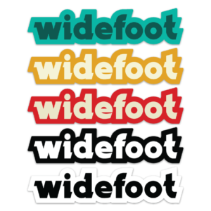Assortment of Widefoot Text Stickers