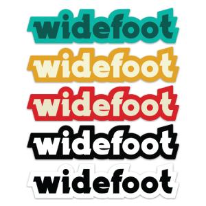 Assortment of Widefoot Text Stickers