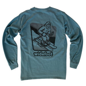 Widefoot Skiing Long Sleeve T-shirt