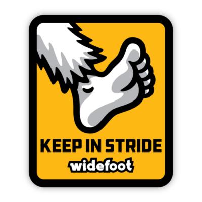Widefoot Keep In Stride Sticker