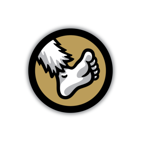 Widefoot Foot Logo Sticker